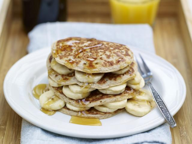 Peanut butter  banana scotch pancakes high res