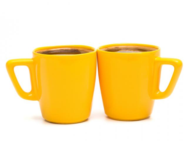 Orange cocoa mugs shutterstock
