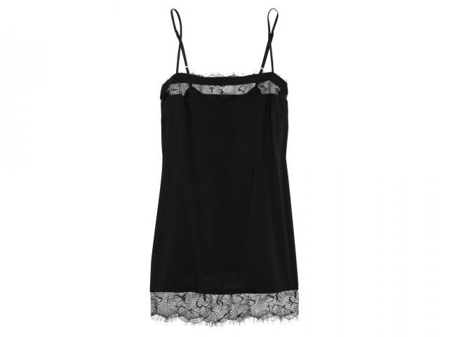 Black lace slip night dress