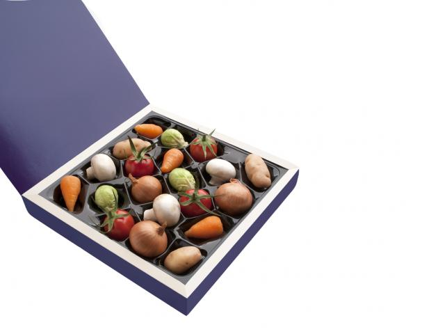 Chocolate box of vegetables