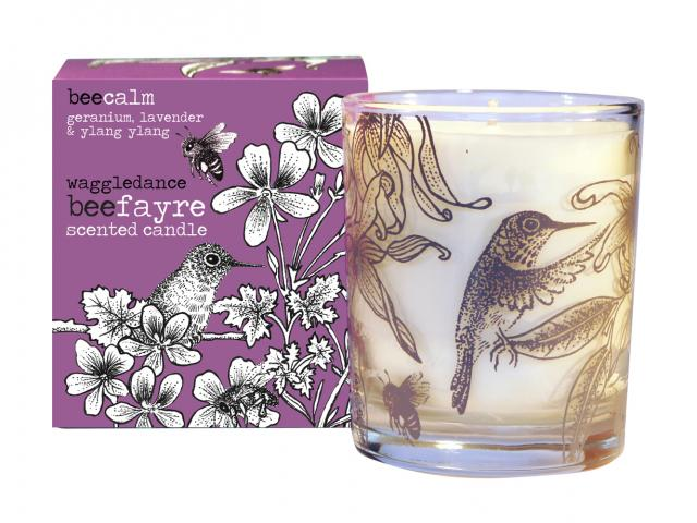 Beefayre bee calm large candle
