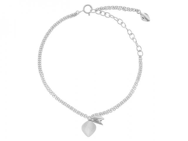 Silver lotus charm