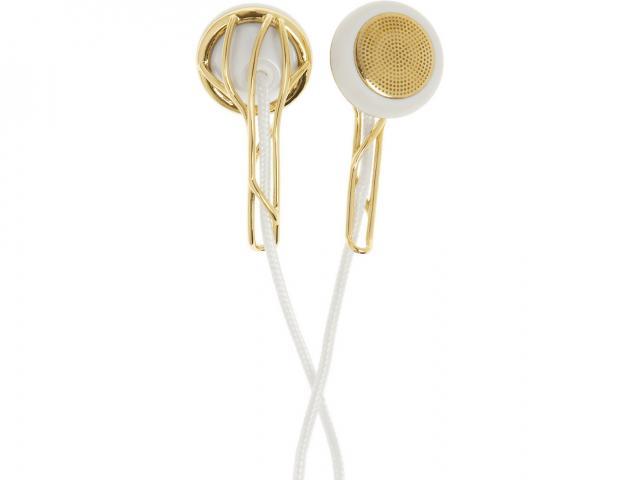 Ella gold tone earphones