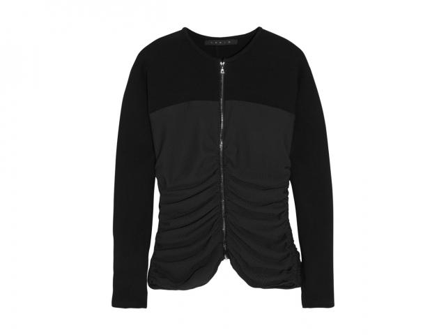 Laain stretch woll crepe and waffle jacket