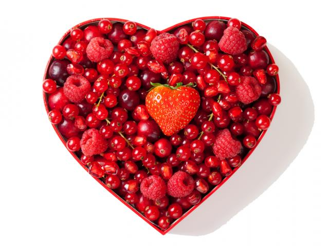 Heart made of berries shutterstock