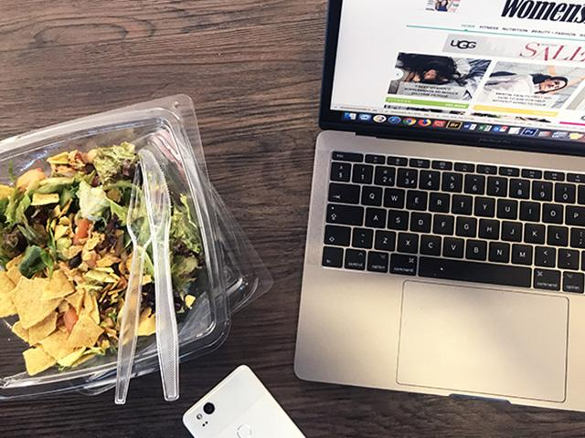 Deliveroo pure salad