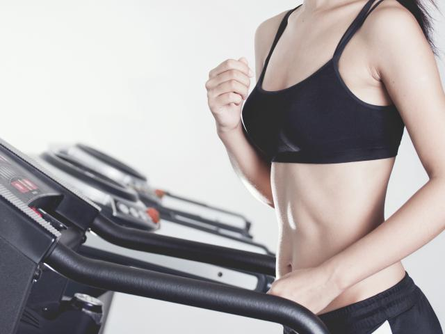 Woman on treadmill shutterstock