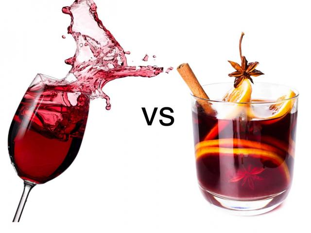Red wine vs mulled wine