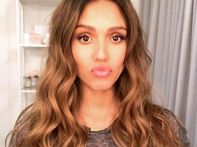 Jessica alba pregnancy hair