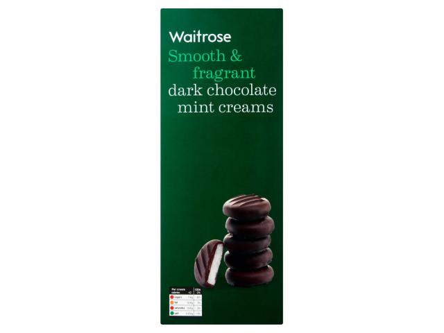 Waitrose dark chocolate mint creams