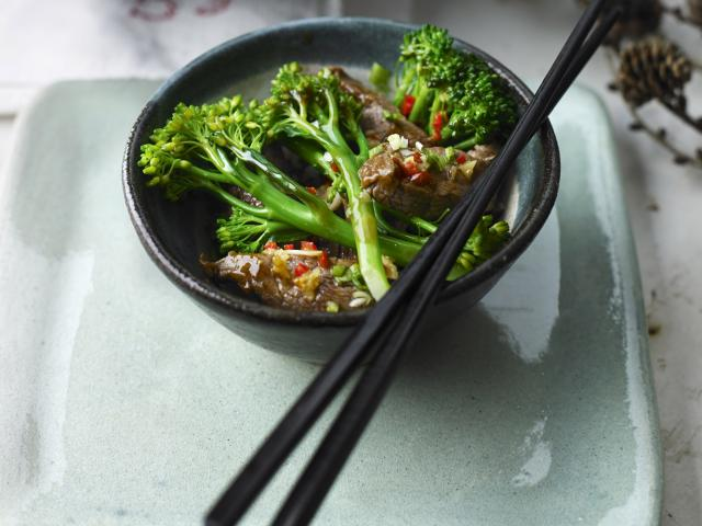 Beef  broccoli in oyster sauce