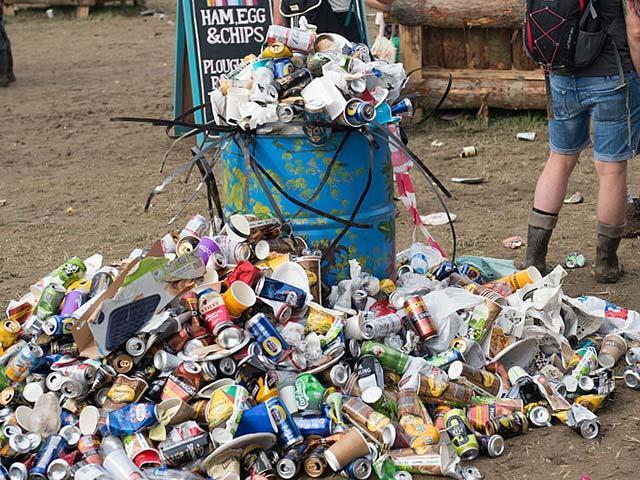 Festival-rubbish