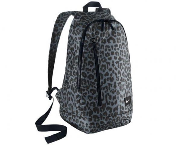 Nike ad backpack leopard print