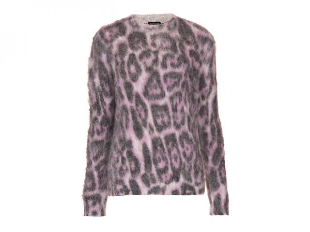 Pink leopard jumper Topshop