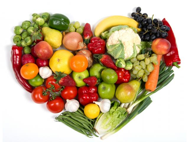Fruit and vegetable heart shutterstock