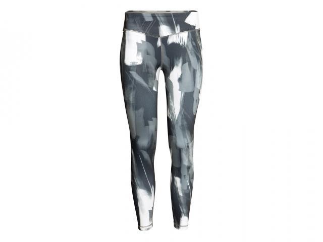 Hm sport grey patterned leggings