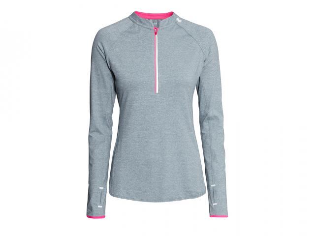 Hm sport grey pink zip top