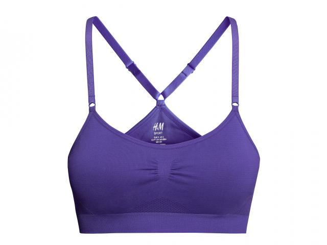Hm sport purple sports bra