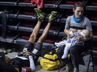 Woman breastfeeding mid ultra marathon - Women's Health UK