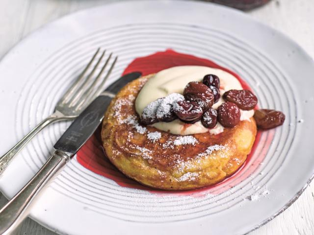 Ricotta and coconut pancakes